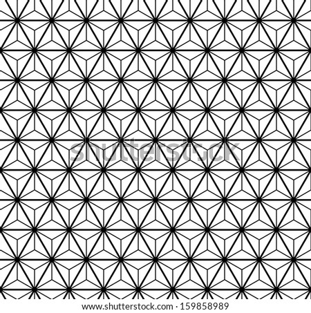 Abstract triangle black and white seamless pattern (vector version) - stock vector