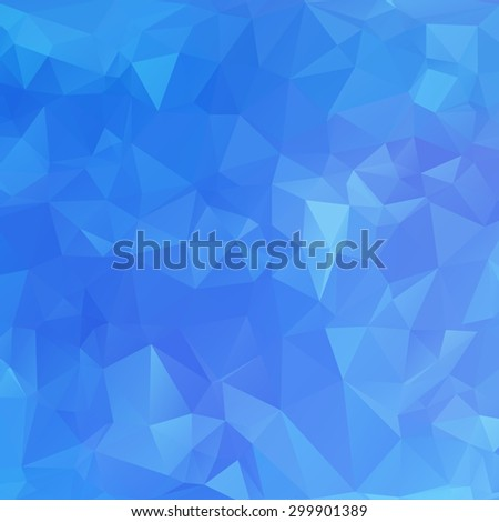 Abstract triangle blue texture background - stock vector