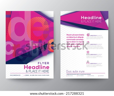 Abstract Triangle Brochure Flyer design Layout template in A4 size - stock vector