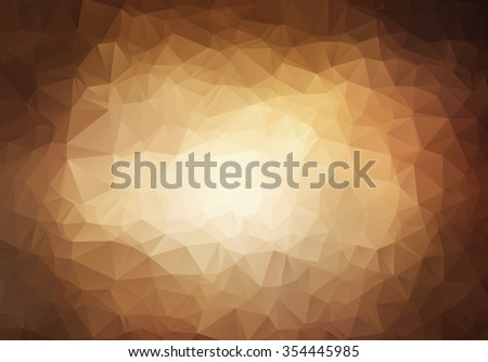 Abstract triangle  brown background for web design - stock vector