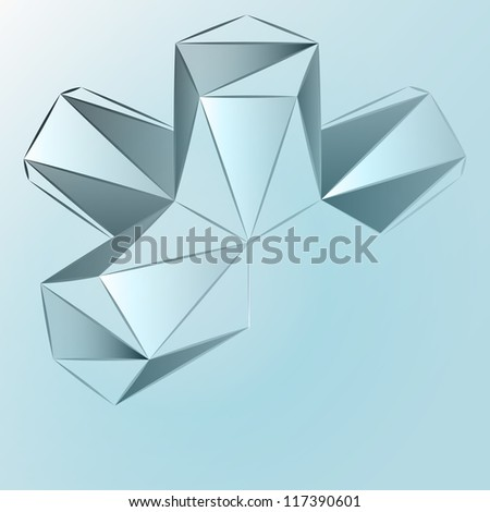abstract triangle composition vector template - stock vector