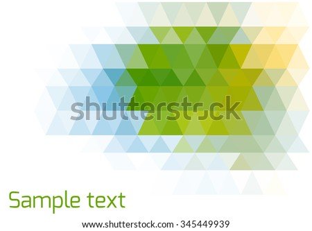 Abstract triangle geometrical multicolored background.