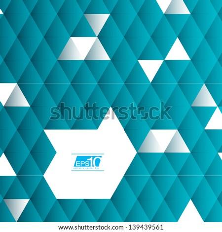 Abstract Triangle Geometrical Vector Design   EPS10 Editable Vector Design - stock vector
