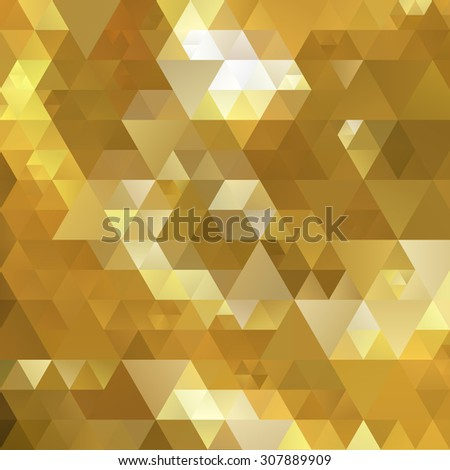 Abstract triangle gold texture background