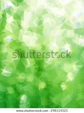 Abstract triangle green texture background - stock vector