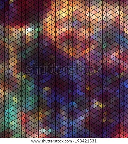 Abstract triangle hexagon pattern - stock vector