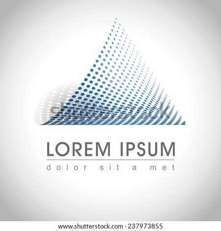 Abstract triangle icon, vector illustration - stock vector