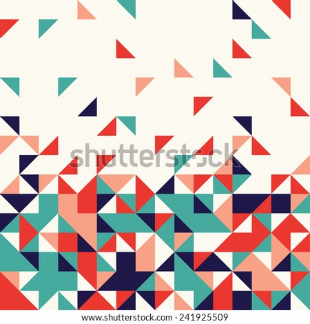 Abstract triangle mosaic background design element - stock vector