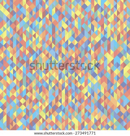 Abstract triangle mosaic colorfull background
