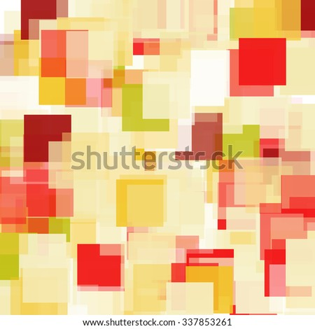 Abstract Triangle Polygonal Geometrical Background, Vector Illustration. Geometric design frame for business presentations, flyers, banners, brochures leaflets, web. red gold yellow tile pattern - stock vector