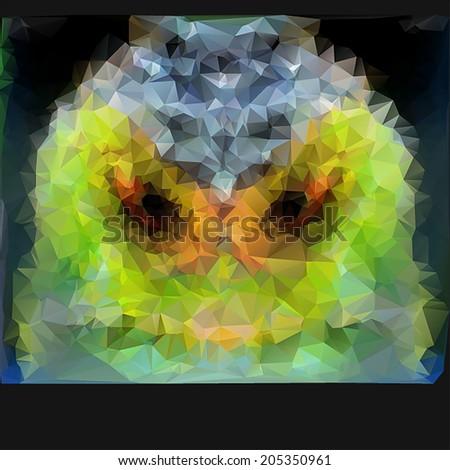 abstract triangle polygonal iguana's face. - stock vector