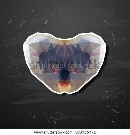 abstract triangle polygonal koala abstract triangle polygonal - stock vector