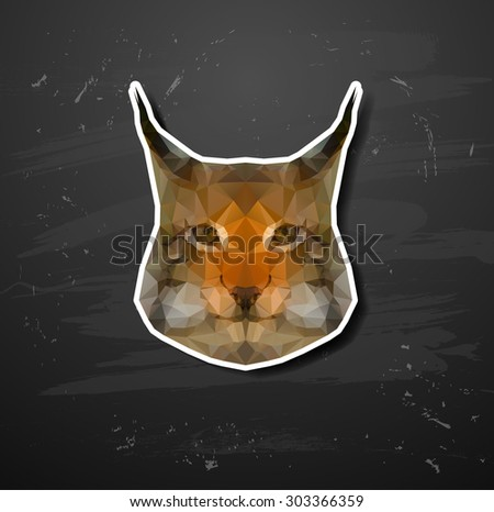 abstract triangle polygonal lynx abstract triangle polygonal - stock vector