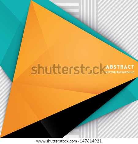 Abstract Triangle Shape Background for Web Design / Print / Presentation - stock vector