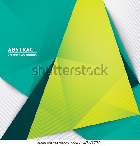 Abstract Triangle Shape Background for Web Design / Print / Presentation / Book Cover - stock vector