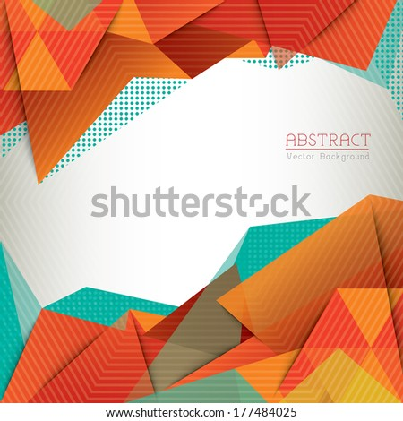 Abstract Triangle Shape Background layout for Web Design / Book Cover / Brochure - stock vector