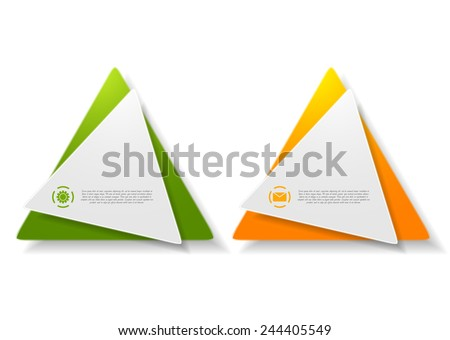 Abstract triangle shape sticker design. Vector background - stock vector