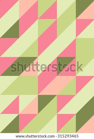 Abstract triangle vector background, 2d pattern, eps 8 - stock vector