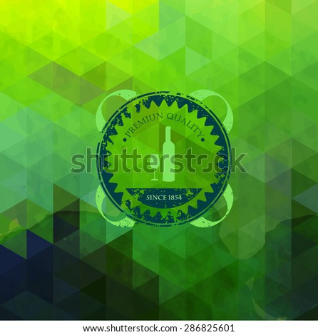 Abstract triangle wine background - stock vector