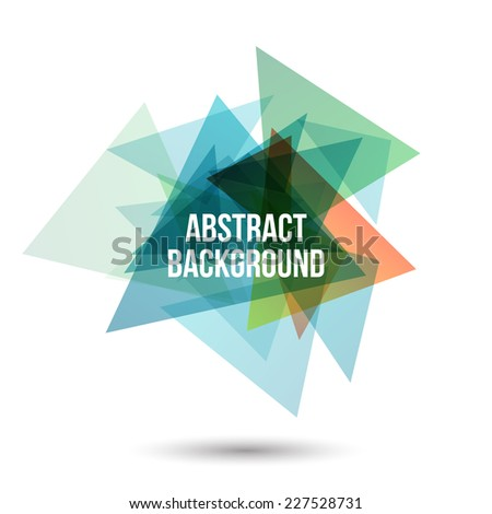Abstract triangles background for business template - stock vector