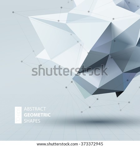 Abstract triangles space low poly. Polygonal vector background with connecting dots and lines.  - stock vector