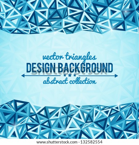 Abstract triangles vector background with place for your text