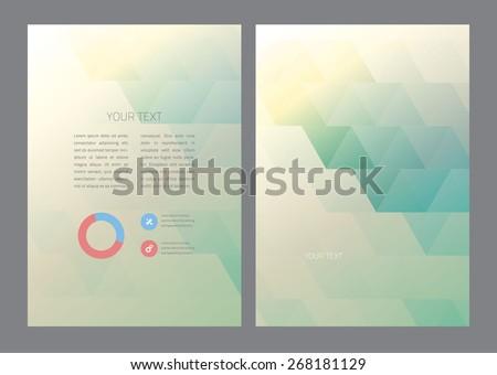 Abstract triangles Vector Brochure Template.  - stock vector