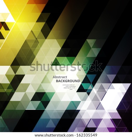 Abstract Triangular Background - stock vector