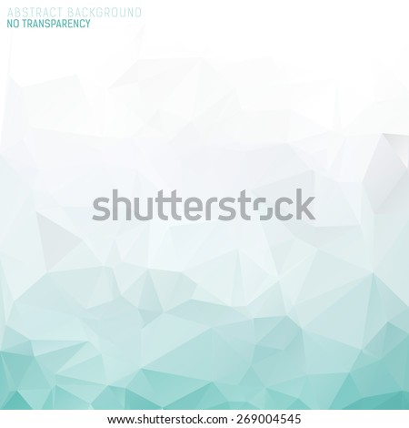 Abstract triangular background with polygonal abstract shapes and turquoise green color tones. - stock vector