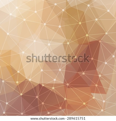 Abstract triangular beige background. Vector design EPS10 - stock vector