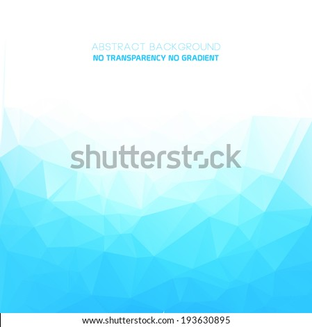 Abstract triangular blue background with polygonal & triangular shapes - stock vector