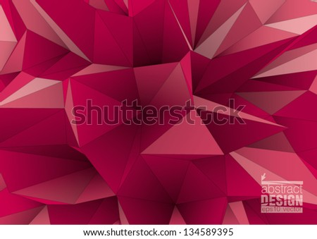 abstract triangular  crystalline background, low poly style illustration - stock vector