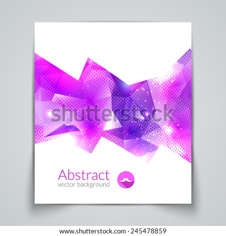 Abstract triangular 3D geometric colorful background.  - stock vector