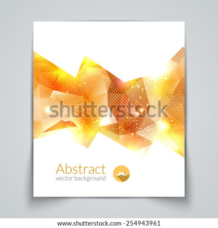 Abstract triangular 3D geometric colorful gold background. - stock vector