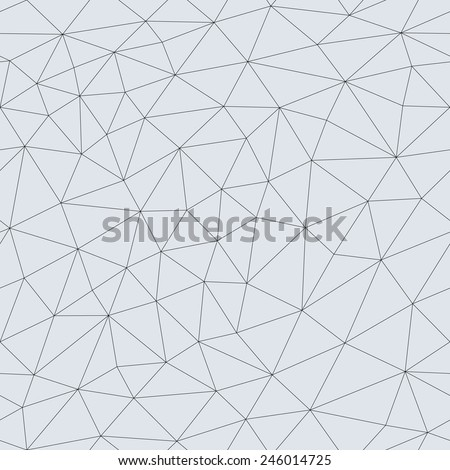 Abstract triangular mesh. Vector seamless linear background.  - stock vector