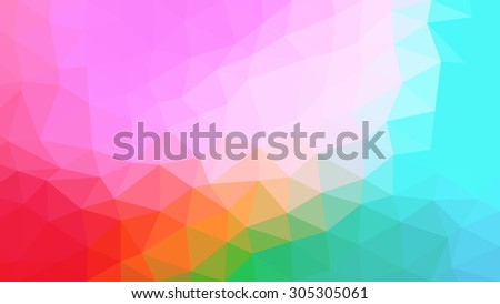 abstract triangular polygonal multicolor background - stock vector