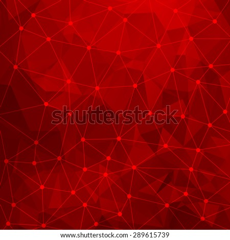 Abstract triangular red background. Vector design EPS10 - stock vector