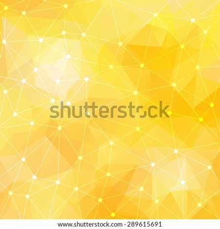 Abstract triangular yellow background. Vector design EPS10 - stock vector