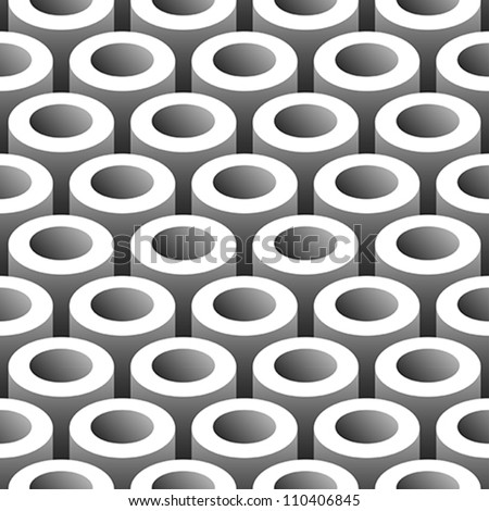 abstract tubes 3D seamless pattern background - stock vector