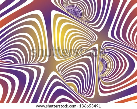 abstract tunnel - stock vector
