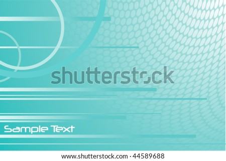 Abstract turquoise background vector. Also available in raster.