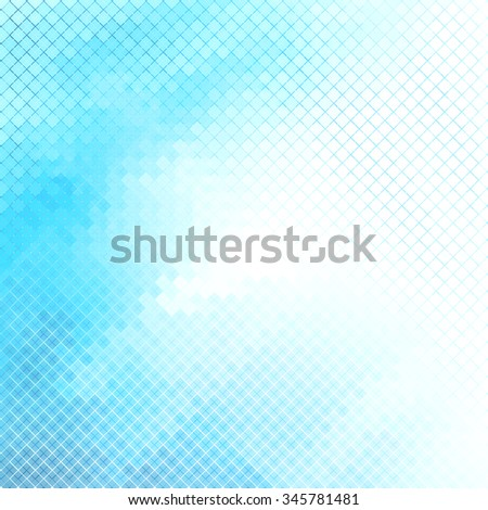 Abstract turquoise blue geometric shapes background with white copyspace area. - stock vector