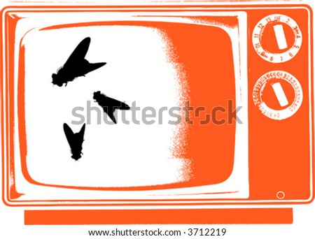 abstract tv - stock vector