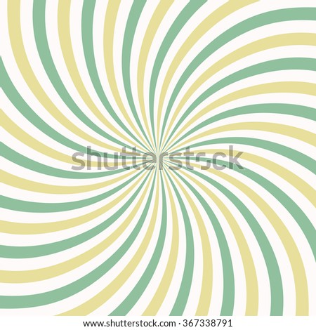 Abstract twirl background retro style - stock vector