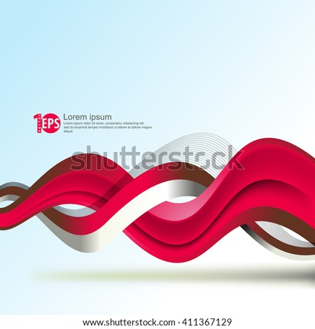 abstract twisting lines abstract material background design. eps10 vector - stock vector