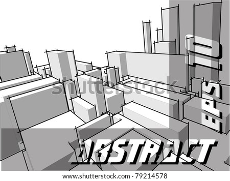Abstract urban architecture - stock vector