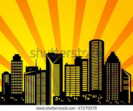 Abstract urban background, vector illustration