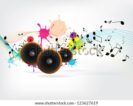 Abstract urban music background with grunge elements - stock vector