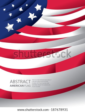 Abstract USA, American Flag (vector Art) - stock vector