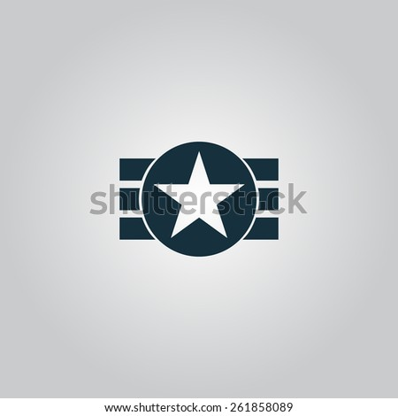 Abstract USA Flag Design. Flat web icon, sign or button isolated on grey background. Collection modern trend concept design style vector illustration symbol - stock vector